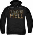 Gladiator pull-over hoodie Unleash Hell adult black