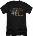 Gladiator slim-fit t-shirt Unleash Hell mens black
