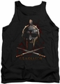 Gladiator tank top Helmet mens black