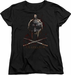 Gladiator womens t-shirt Helmet black