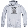 GM Buick pull-over hoodie 1946 Emblem adult Athletic Heather