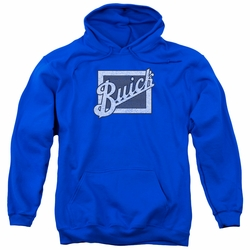 GM Buick pull-over hoodie Distressed Emblem adult Royal Blue