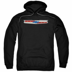GM Chevy pull-over hoodie 56 Bel Air Emblem adult Black