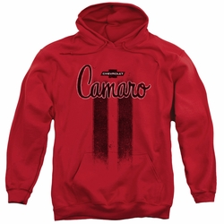 GM Chevy pull-over hoodie Camaro Stripes adult Red