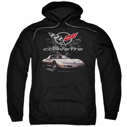 GM Chevy pull-over hoodie Checkered Past adult Black