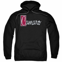 GM Chevy pull-over hoodie Chrome Script adult Black