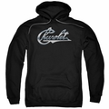 GM Chevy pull-over hoodie Chrome Vintage Chevy Bowtie adult Black