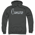 GM Chevy pull-over hoodie Classic Camaro Metal adult Charcoal