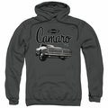GM Chevy pull-over hoodie Script Car adult Charcoal