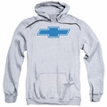 GM Chevy pull-over hoodie Simple Vintage Bowtie adult Athletic Heather
