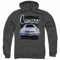 GM Chevy pull-over hoodie Yellow Camaro adult Charcoal