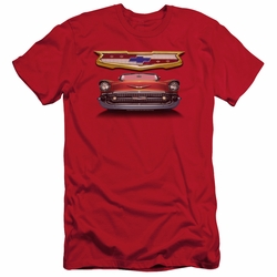 GM Chevy slim-fit t-shirt 1957 Bel Air Grille mens Royal Blue