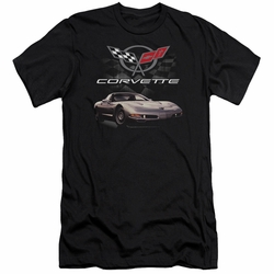 GM Chevy slim-fit t-shirt Checkered Past mens Black