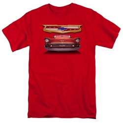 GM  Chevy t-shirt 1957 Bel Air Grille mens Royal Blue