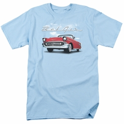 GM  Chevy t-shirt Bl Air Clouds mens Light Blue