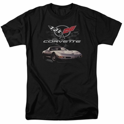 GM  Chevy t-shirt Checkered Past mens Black