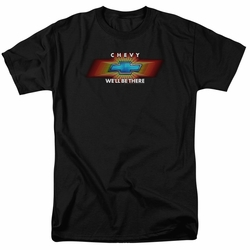 GM  Chevy t-shirt Chevy We'Ll Be There Tv Spot mens Black