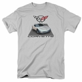 GM  Chevy t-shirt Silver 01 Vette mens Silver