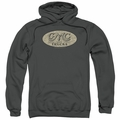 GM GMC pull-over hoodie Vintage Oval Logo adult Charcoal