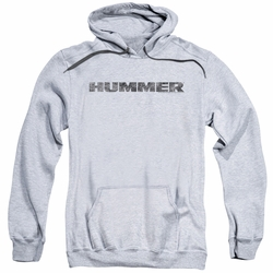 GM Hummer pull-over hoodie Distressed Hummer Logo adult Athletic Heather