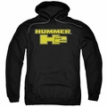 GM Hummer pull-over hoodie H2 Block Logo adult Black