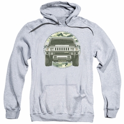 GM Hummer pull-over hoodie Lead Or Follow adult Athletic Heather