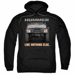 GM Hummer pull-over hoodie Like Nothing Else adult Charcoal