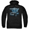 GM Hummer pull-over hoodie Stormy Ride adult Black