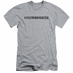 GM Hummer slim-fit t-shirt Distressed Hummer Logo mens Athletic Heather