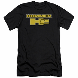 GM Hummer slim-fit t-shirt H2 Block Logo mens Black