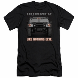 GM Hummer slim-fit t-shirt Like Nothing Else mens Charcoal