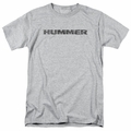 GM  Hummer t-shirt Distressed Hummer Logo mens Athletic Heather