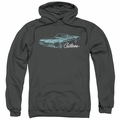 GM Oldsmobile pull-over hoodie 68 Cutlass adult Charcoal