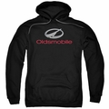 GM Oldsmobile pull-over hoodie Modern Logo adult Black
