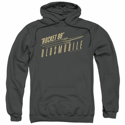 GM Oldsmobile pull-over hoodie Retro 88 adult Charcoal