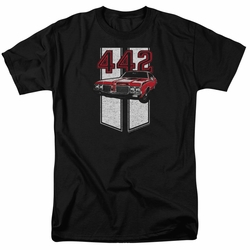 GM  Oldsmobile t-shirt 442 mens Black