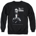 Godfather adult crewneck sweatshirt Poster black