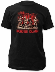 Godzilla Monster Island Fitted Jersey t-shirt pre-order