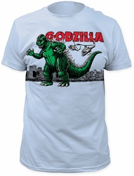Godzilla t-shirt Air Strike Soft Fitted 30/1 mens light blue pre-order