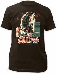 Godzilla Vintage Poster Fitted Jersey t-shirt