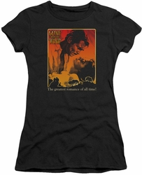 Gone With The Wind juniors t-shirt Greatest Romance black