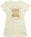 Gone With The Wind juniors t-shirt Logo cream