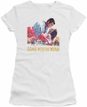 Gone With The Wind juniors t-shirt On Fire white