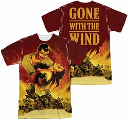 Gone With The Wind mens full sublimation t-shirt Fire Poster