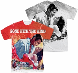 Gone With The Wind mens full sublimation t-shirt Poster