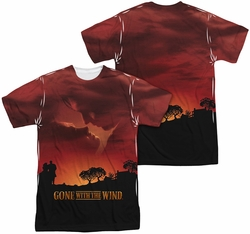 Gone With The Wind mens full sublimation t-shirt Sunset
