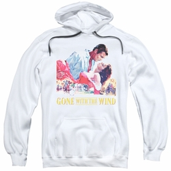Gone With The Wind pull-over hoodie On Fire adult white