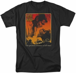 Gone With The Wind t-shirt Greatest Romance mens black