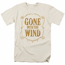 Gone with the Wind t-shirt Logo mens cream