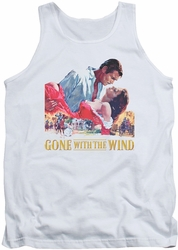 Gone With The Wind tank top On Fire mens white